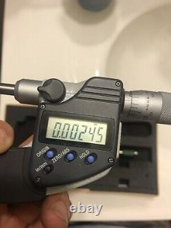 0-1 Mitutoyo 406-350-30 Digital Micrometer SAE & Metric Non-Rotating Spindle