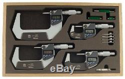 293-961-30 Mitutoyo Digital Micrometer Set 0-4