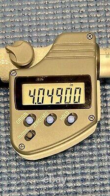 3 4 Mitutoyo 343-353 Digimatic digital Caliper jaw style Micrometer SPC NICE