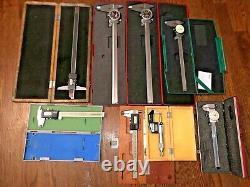 6 Calipers 6, 8, 12 1 Depth Gage 1 Digital Micrometer 0-1 Insize Spi Mitutoyo