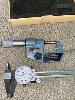 Combo Mitutoyo Digimatic 0-1 Micrometer (293-761-30)+Mitutoyo Caliper 0-6