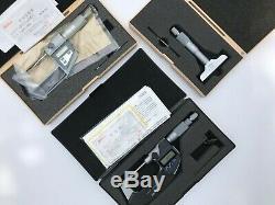 DEAL! Mitutoyo Digital Blade 0-15mm / 0-1, Depth, Spline Micrometer 0 25