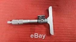 EXCELLENT MITUTOYO 0-150mm Digit Depth Micrometer. 01 Grad. Model 229-116(T127)