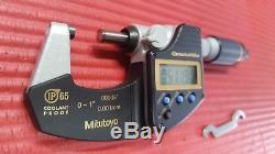 EXCELLENT MITUTOYO 0-1 Quantumike DIGITAL IP65 Outside Micrometer. 00005 Grad