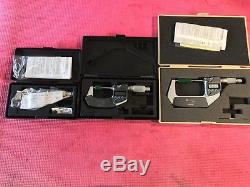 EXCELLENT MITUTOYO 0-3 Digital COOLANT PROOF IP65 Outside Micrometer. 00005 Grad