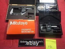 EXCELLENT MITUTOYO 0-3 Digital COOLANT PROOF IP65 Outside Micrometer. 00005 T86