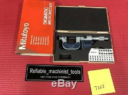 EXCELLENT MITUTOYO Digital Thread outside Micrometer 0-1 Resolution. 00005(T268)