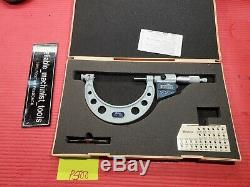 EXCELLENT MITUTOYO Digital Thread outside Micrometer 3-4 Resolution. 0001 (P500)