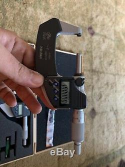IP65 Mitutoyo digital Micrometer Set Coolant Proof