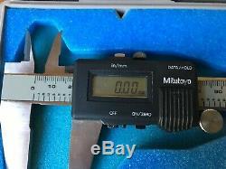 Lot of 2 Mitutoyo Micrometer 500-322 Digital Caliper Digimatic CD-8 Tools