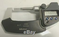MITUTOYO 0-1 Inch / 0.00005 DIGITAL BLADE MICROMETER NO 422-360