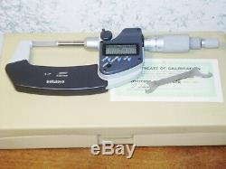 MITUTOYO 0-1 Inch DIGITAL BLADE MICROMETER NO. 422-360 with CASE