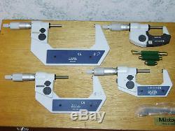 MITUTOYO 0-4 Inch DIGITAL MICROMETER SET NO 293-934-30