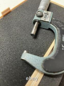 MITUTOYO 193-212 1-2 Digital Micrometer. 0001 Grads Carbide Tip JAPAN