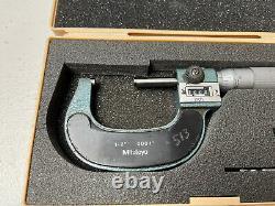 MITUTOYO 1-2 Digital Micrometer 193-212.0001 Grads Carbide Tip JAPAN