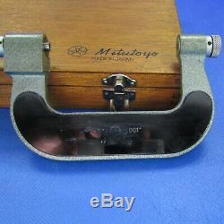 MITUTOYO 226-139 Digital 2-3 Screw Thread Micrometer w 4 Pair Anvil Machinist