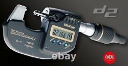 MITUTOYO 293-100-10 Sub-Micron Digimatic Micrometer, 0-25mm Range, 0.0001mm
