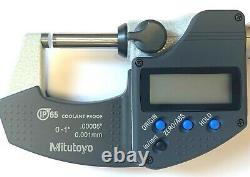 MITUTOYO 293-330-30 0-1 DIGITAL MICROMETER. 0005 IP65 withSPC OUTPUT NEW