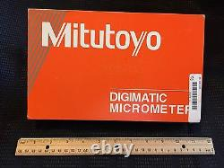 MITUTOYO 293-332-30 Coolant Proof Digital Micrometer With Ratchet Stop