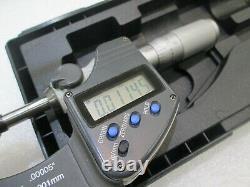 MITUTOYO 293-335 Digital Outside Micrometer, Inch/Metric 0-1.00005, 0.001mm