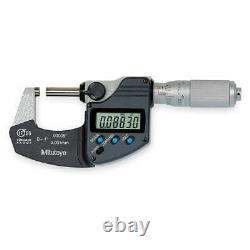 MITUTOYO 293-344-30CERT Electronic Micrometer, 1 In, Cert