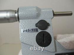 MITUTOYO # 293-713 Electronic Digital Micrometer, 2 3, X. 00005 &. 001 mm