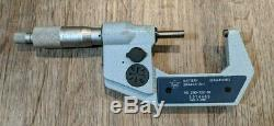 MITUTOYO # 293-722-30, 1-2 x. 00005 or. 001 mm Digital Micrometer with 1 Master
