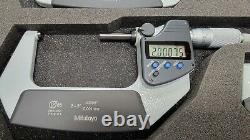 MITUTOYO 293-961-30 DIGITAL MICROMETER, SET 0-4 inc. 00005 Grade