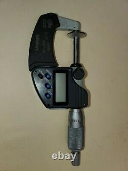 MITUTOYO 323-350-30 Digital Disk Micrometer, 0 to 1, 0.00005 NO CASE