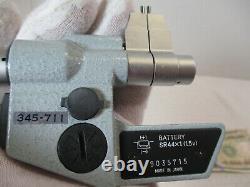 MITUTOYO # 345-711 Digital Pin Micrometer. 2000 1.2000 x. 00005 &. 001 mm