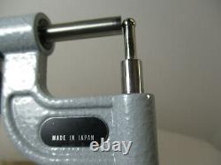 MITUTOYO # 395-733 Digital Micrometer. 184 Round Anvil, 0 1 x. 00005, LN