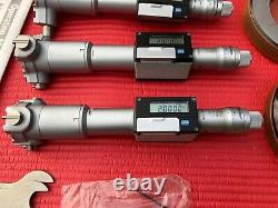 MITUTOYO DIGITAL Bore Holtest INSIDE MICROMETER 2.0 To 3.2 Inch W 2 Rings (T298)