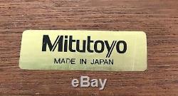 MITUTOYO DIGITAL MICROMETER 4pc. SET 293-934-10