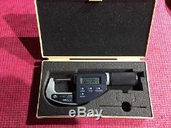 MITUTOYO DIGITAL Quick Mike Non Rotating Spindle Outside Micrometer 0-1.2