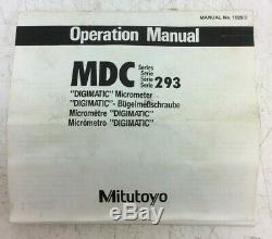 MITUTOYO Digital External Micrometer 3 4 Range Inc 3 Standard
