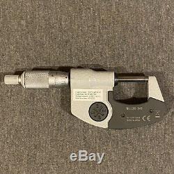 MITUTOYO Digital Micrometer, 0-1 In, Cert, Ratchet, 293-340-30CERT
