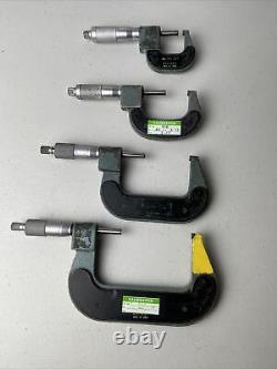MITUTOYO Digital Micrometer LOT. 0001 Carbide Tip 0-1 1-2 2-3 3-4