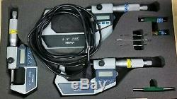 MITUTOYO Electronic Digital Micrometer 3 Piece Great Condition #K100