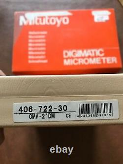 MITUTOYO Electronic Digital Outside Micrometer 1-2 406-722-30 PRISTINE. 00005