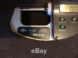 MITUTOYO IP 54 ABSOLUTE DIGITAL 0-1.2 Or 0-30mm DIGITAL MICROMETER 293-676