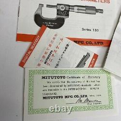 MITUTOYO Micron Micrometer, 0-25mm Range, 0.0001mm Vintage RARE Japan
