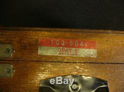 MITUTOYO' O/S MICROMETER SET No103-904 (0-6)'INCOMPLETE' + CASE (5452)