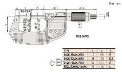 MITUTOYO QuantuMike 293-142-30 IP65 Metric Micrometer MDE-75MX F/S