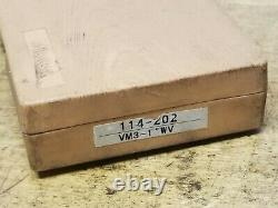 Mitutoyo 093-1 V Micrometer no 114-202 Ratchet Stop and Case