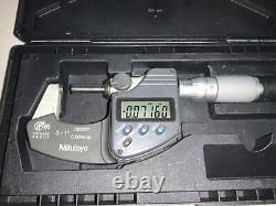 Mitutoyo 0-1.00005 IP 65 Coolant Proof No. 293-344-30 Digital Micrometer