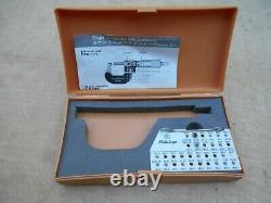 Mitutoyo 0-1.001 Digital Thread Measuring Micrometer 226-137 with 2 anvil set