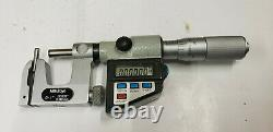 Mitutoyo 0-1 x. 00005 Digital Uni-Mike Anvil Micrometer Friction Thimble