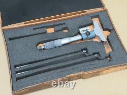Mitutoyo 0 3 Digital Depth Gauge Micrometer In Box ME3135