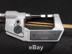 Mitutoyo 0-422-311 Digital Blade Micrometer Inch + Metric Ratchet In Box Nice