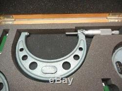 Mitutoyo 103-931 Micrometer Set. 0001 Range 0 4 Complete With Original Box